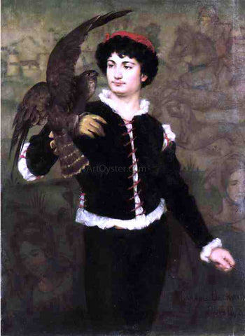 James Carroll Beckwith The Falconer - Hand Painted Oil Painting