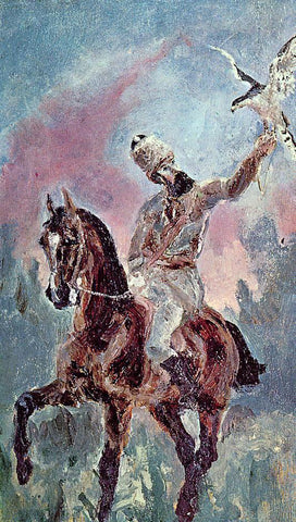 Henri De Toulouse-Lautrec The Falconer, Comte Alphonse de Toulouse-Lautrec - Hand Painted Oil Painting