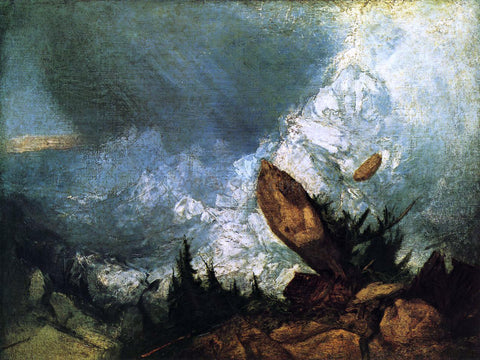 Joseph William Turner The Fall of an Avalanche in the Grisons - Hand Painted Oil Painting