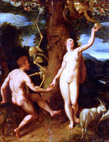 Cornelis Cornelisz The Fall of Man - Hand Painted Oil Painting