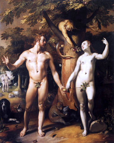 Cornelis Van Haarlem The Fall of Man - Hand Painted Oil Painting
