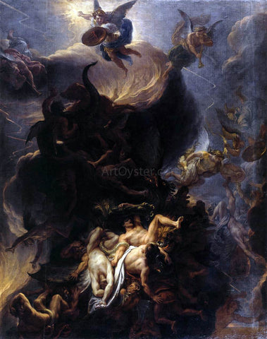 Charles Le Brun The Fall of the Rebel Angels - Hand Painted Oil Painting
