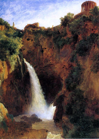 Louise-Josephine Sarazin De Belmont The Falls at Tivoli - Hand Painted Oil Painting