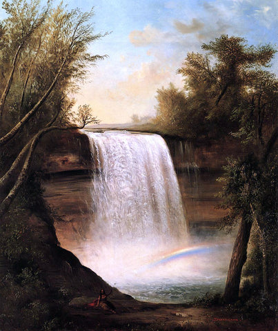 Robert Scott Duncanson The Falls of MineHaHa - Hand Painted Oil Painting