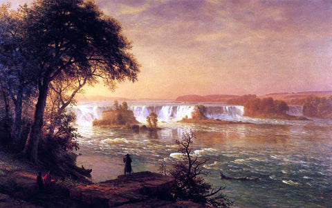 Albert Bierstadt The Falls of St. Anthony - Hand Painted Oil Painting