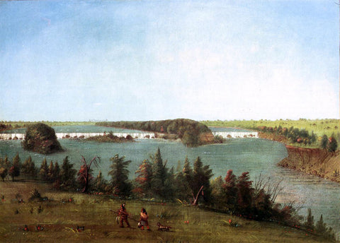 George Catlin The Falls of St. Anthony - Hand Painted Oil Painting