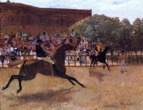 Edgar Degas The False Start - Hand Painted Oil Painting