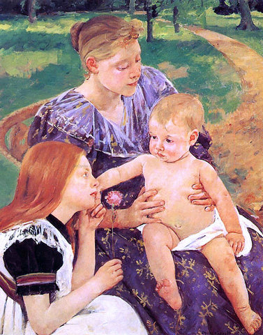 Mary Cassatt The Family - Hand Painted Oil Painting