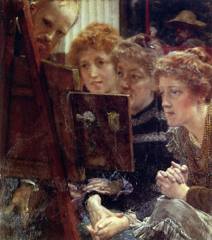 Sir Lawrence Alma-Tadema The Family Group - Hand Painted Oil Painting