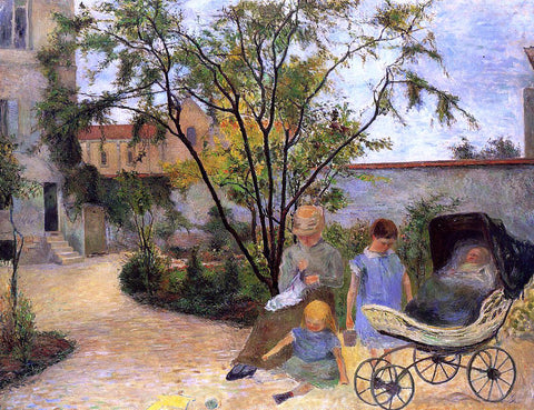 Paul Gauguin The Family in the Garden, rue Carcel - Hand Painted Oil Painting
