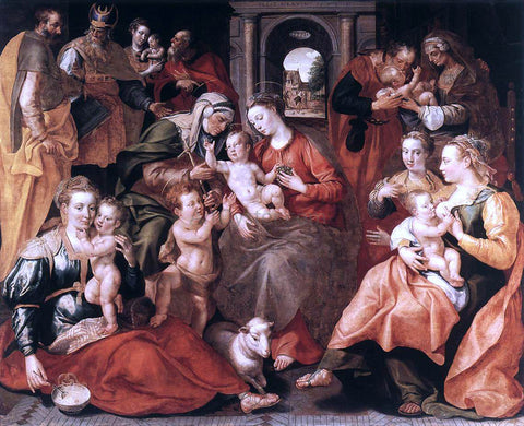Marten De Vos The Family of St Anne - Hand Painted Oil Painting