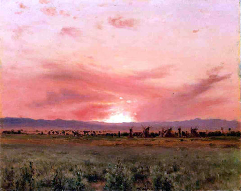 Jervis McEntee The Far West - Hand Painted Oil Painting