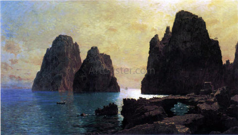 William Stanley Haseltine The Faraglioni Rocks - Hand Painted Oil Painting