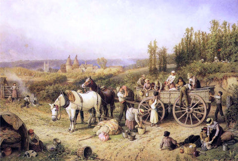 Myles Birket Foster The Farm Cart - Hand Painted Oil Painting
