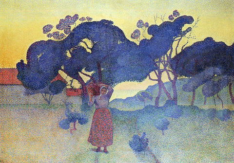 Henri Edmond Cross The Farm, Evening - Hand Painted Oil Painting