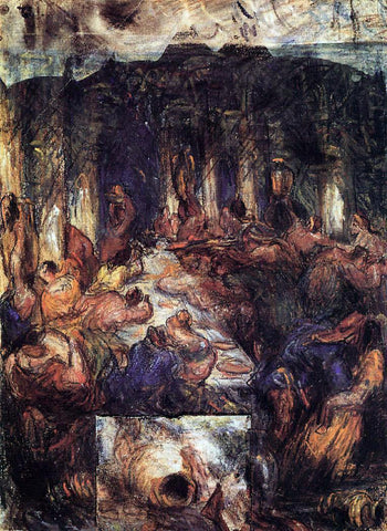 Paul Cezanne The Feast - Hand Painted Oil Painting