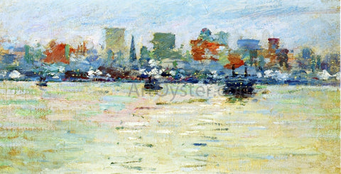 Theodore Robinson The Ferry - Hand Painted Oil Painting