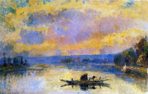 Albert Lebourg The Ferry at Bouille, Sunset - Hand Painted Oil Painting