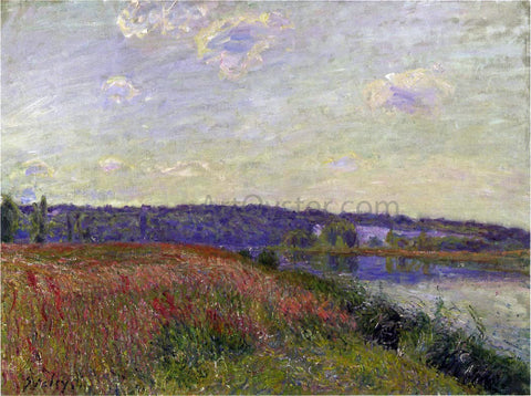Alfred Sisley The Fields and Hills of Veneux-Nadon - Hand Painted Oil Painting