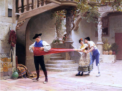 Jehan-Georges Vibert The Final Touch - Hand Painted Oil Painting