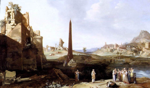 Bartholomeus Breenbergh The Finding of Moses - Hand Painted Oil Painting