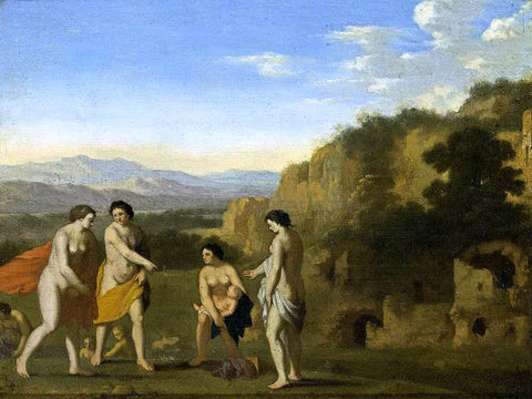 Cornelis Van Poelenburgh The Finding of Moses - Hand Painted Oil Painting