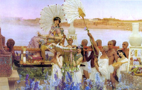 Sir Lawrence Alma-Tadema The Finding of Moses - Hand Painted Oil Painting