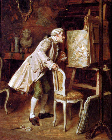 Louis Georges Brillouin The Finishing Touches - Hand Painted Oil Painting