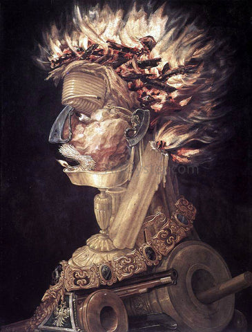 Giuseppe Arcimboldo The Fire - Hand Painted Oil Painting