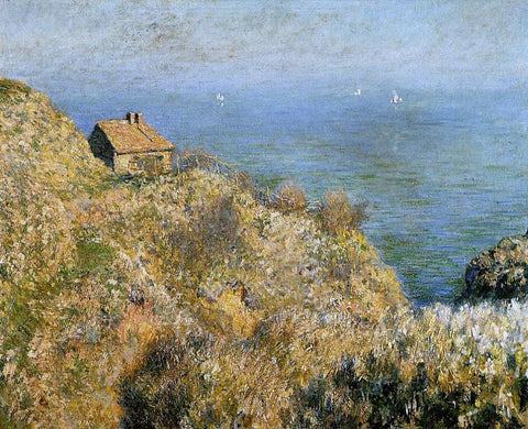 Claude Oscar Monet A Fisherman's House at Varengeville - Hand Painted Oil Painting