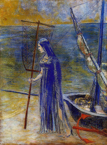 Odilon Redon The Fisherwoman - Hand Painted Oil Painting