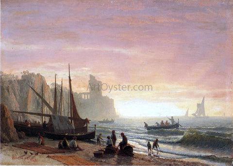 Albert Bierstadt The Fishing Fleet - Hand Painted Oil Painting