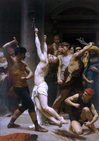 William Adolphe Bouguereau The Flagellation of Our Lord Jesus Christ - Hand Painted Oil Painting