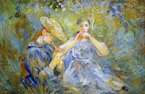 Berthe Morisot The Flageolet - Hand Painted Oil Painting