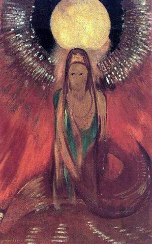 Odilon Redon The Flame (also known as Goddess of Fire) - Hand Painted Oil Painting