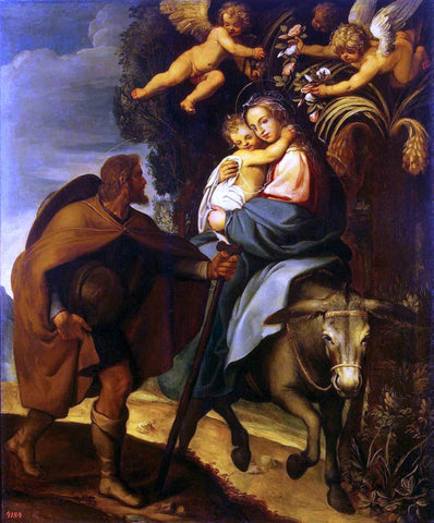 Bartolomeo Carducho The Flight into Egypt - Hand Painted Oil Painting