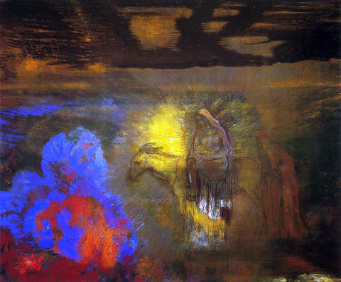 Odilon Redon The Flight into Egypt - Hand Painted Oil Painting
