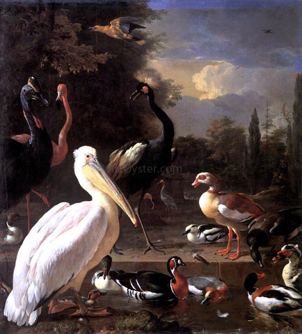 Melchior D'Hondecoeter The Floating Feather - Hand Painted Oil Painting