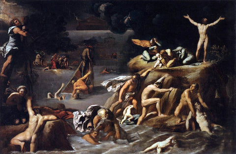 Antonio Carracci The Flood - Hand Painted Oil Painting