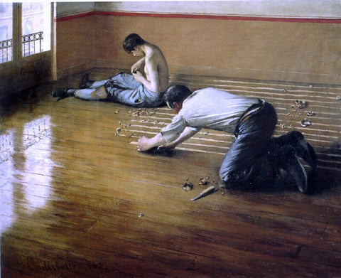 Gustave Caillebotte The Floor Scrapers - Hand Painted Oil Painting