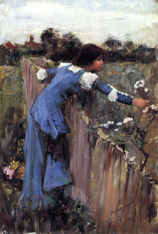 John William Waterhouse The Flower Picker (sketch) - Hand Painted Oil Painting