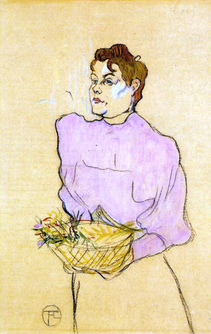 Henri De Toulouse-Lautrec The Flower Seller - Hand Painted Oil Painting
