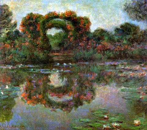 Claude Oscar Monet The Flowered Arches at Giverny - Hand Painted Oil Painting