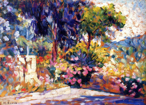Henri Edmond Cross The Flowered Trees - Hand Painted Oil Painting