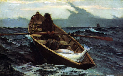 Winslow Homer The Fog Warning - Hand Painted Oil Painting