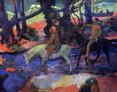 Paul Gauguin The Ford (also known as Flight) - Hand Painted Oil Painting