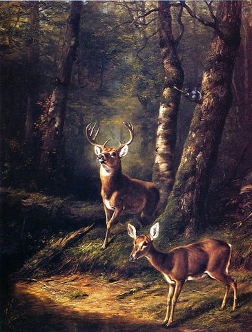 Arthur Fitzwilliam Tait The Forest: Adirondacks - Hand Painted Oil Painting