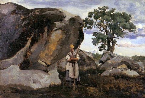 Jean-Baptiste-Camille Corot The Forest of Fontainebleau - Hand Painted Oil Painting