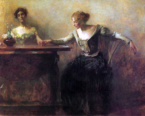 Thomas Wilmer Dewing The Fortune Teller - Hand Painted Oil Painting