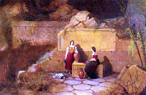Robert Walter Weir The Fountain of Cicero - Hand Painted Oil Painting
